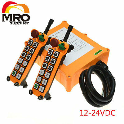 12-24VDC 12 Channels 1 Speed  Hoist Crane Truck Radio Remote Controller