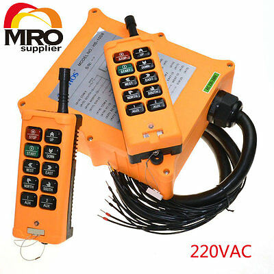 220VAC 10 channel 2 Speed  Hoist Crane Truck Radio Remote Control  Controlle