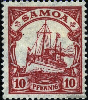 Samoa (German. Colony) 22 with hinge 1900 Ship Imperial Yacht Hohenzollern