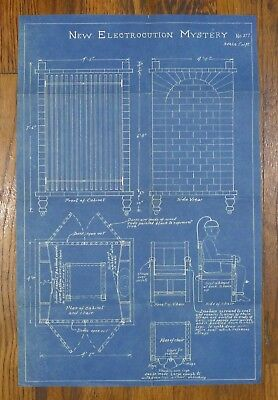 "Rare Vintage ""New Electrocution Mystery"" Magic Trick Blueprint Thayer Mfg. Co ?"