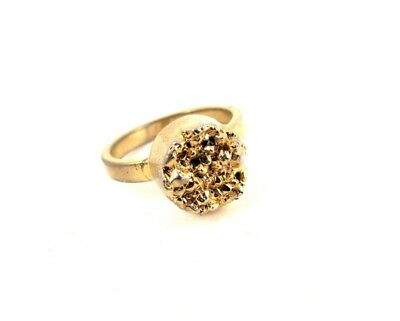 Vintage Gold Tone Nugget Ring F437