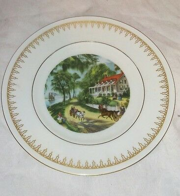 Currier and Ives Home on the Mississippi Plate