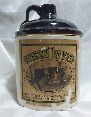 Antique Old Green River Tobacco Co. Jar Kentucky Tobacco Advertisement Jug