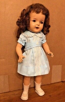 """Arranbee 1930s Marked NANCY Composition 17"""" Doll Open Mouth 4 Teeth R&B"""