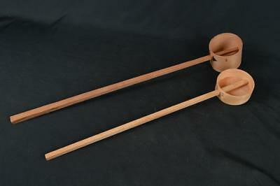 M202: Japanese Wooden Cedars DIPPER/Hishaku, a ladle that has a cup 2pcs