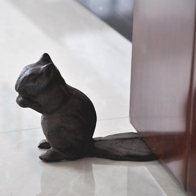 VINTAGE Squirrel Cast Iron Door Stop HEAVY DUTY METAL DOOR STOPPER Home Decor