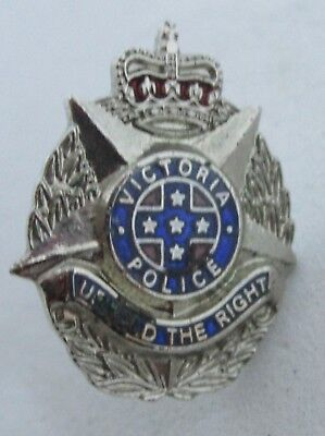 OBSOLETE VICTORIA POLICE UPHOLD THE RIGHT 15mm PIN BADGE