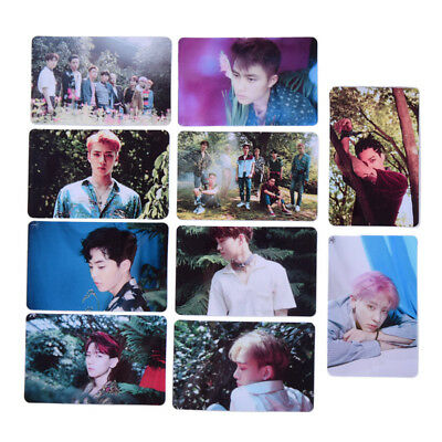 Jewelry Findings & Components Kpop Exo Cbx Blooming Days Album Sticky Crystal Photo Cards Xiumin Chen Photocard Sticker Poster 10pcs