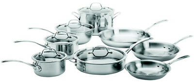 Cookware Set Stainless Steel 13 Piece Dishwasher Safe Home Kitchen Cookware Set
