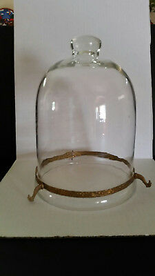 Antique Glass Bell Jar-9.5 x 7.25 excellent condition