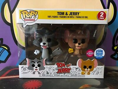 Funko POP! Animation TOM AND JERRY FLOCKED 2-PACK FUNKO SHOP EXCLUSIVE
