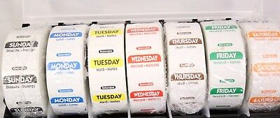 7 DAY FOOD SAFETY DATE LABELS 1000 LABEL PER ROLL REMOVABLE COLOR CODED 7 Rolls
