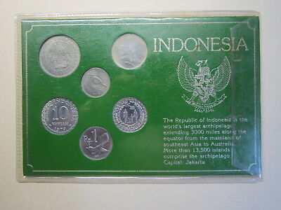 Indonesia 6 coin set on display card