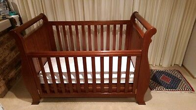 Boori Country 3 IN 1 Sleigh Cot With Drawer + Change Table + Junior Wardrobe