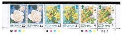 GB - ISLE of MAN 1998 Definitive Flowers Part Sheet Traffic Lights