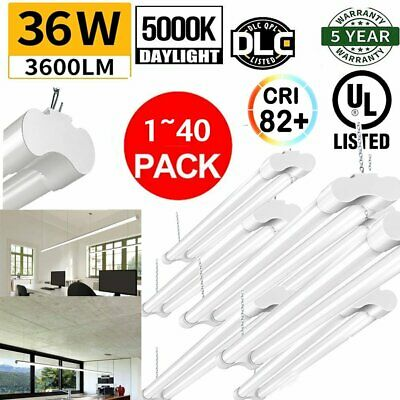 LOT4~40 Pack 4FT LED SHOP LIGHT 5000K Daylight Fixture Utility Ceiling Lights YQ