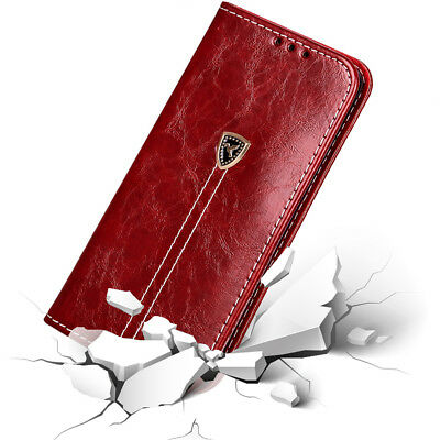 For Samsung Galaxy S7 Edge S8 S9 Plus Leather Flip Case Wallet PU Magnetic Cover