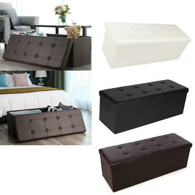 """43"""" x 15"""" x 15"""" Storage Ottoman Cube/Footrest Stool/Coffee Table/Padded Seat"""