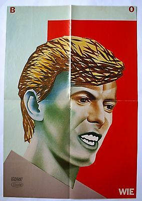 David Bowie Ziggy Stardust Rare Poster Mint Condition  From The  80