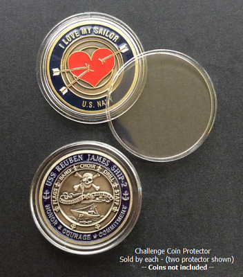 ~ Challenge Coin ~ For 1-3/4 inch (44mm) coins ~ Scratch Resistant ~