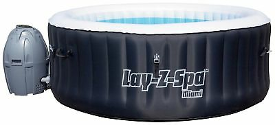 Bestway Lay-Z-Spa Miami 4 Person Inflatable Airjet Heated Round Hot Tub - Black]