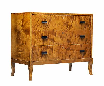 Mid 20Th Century Scandinavian Burr Birch Chest Of Drawers