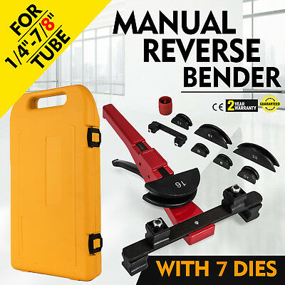 Multi Manual Pipe Tube Bender Tool Kit 1/4-7/8 & 7 Dies Great Steel Workshop