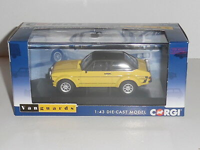 Vanguards VA12612 FORD ESCORT MK2 RS MEXICO. SIGNAL YELLOW ,LTD-1000. NEW ISSUE.