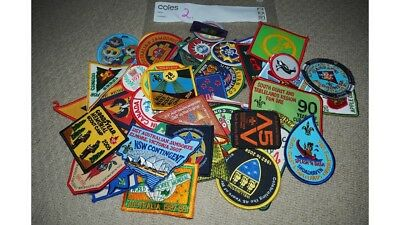 50 Assorted Scout Badges - Patches from around the world