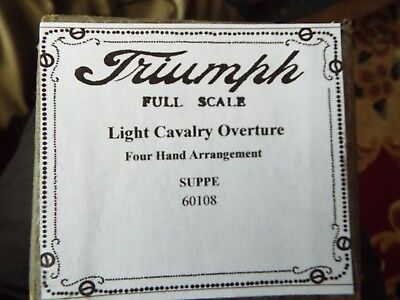"88n Piano Roll  "" Light Cavalry Overture ""  Triumph Original Roll  Long Roll"