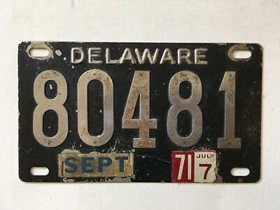 1948 1951 Delaware License Plate Stainless Steel Riveted Numbers 1972 5-Digit