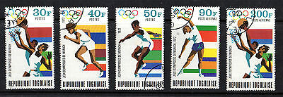 Togo 1972 Olympic Games Set Of All 5 Commemorative Stamps