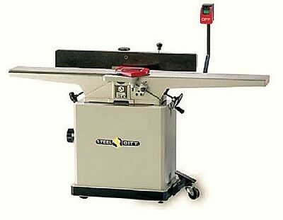 """STEEL CITY TOOL WORKS 8"""" LONG-BED INDUSTRIAL JOINTER 2HP 10.5 Amp 220 V 1 Phase"""