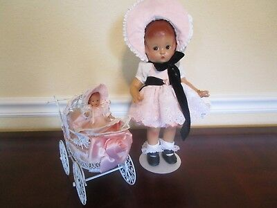 Effanbee Patsy With Wee Patsy In Carriage Reproduction Doll Set V763