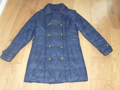 Tommy Hilfiger Ladies Quilted Navy Long  Coat Size 14