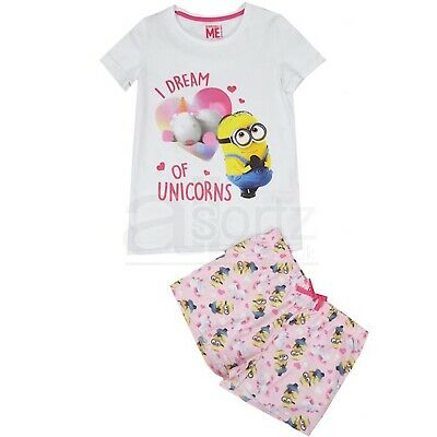 Girls Top Uk High Street Unicorn Pyjama Set Shortie Pyjamas Cotton M S L Age