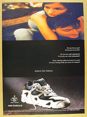 1996 New Balance 850 Running Shoes color photo vintage print Ad