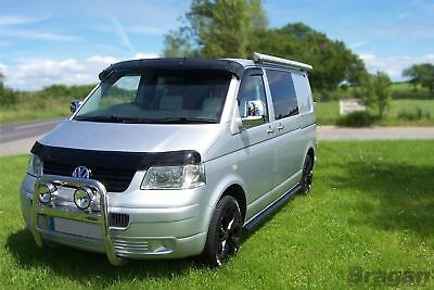To Fit 10-15 Volkswagen VW Transporter T5 Caravelle Smoked Acrylic Bonnet Guard