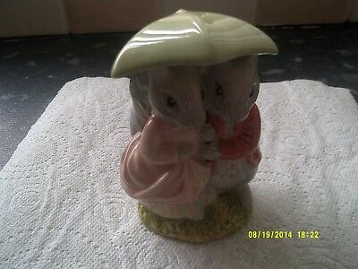 Beswick Beatrix Potter Goody & Timmy tiptoes  ornament of a mice