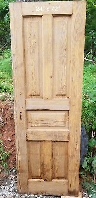 "Antique Vintage 5-Panel Wood Closet Door Early 1900's    24"" x 72"""