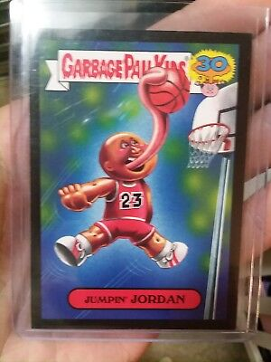 Garbage Pail Kids 30th Jumpin' Jordan 80's Spoof 7a Black Parallel Bulls Michael