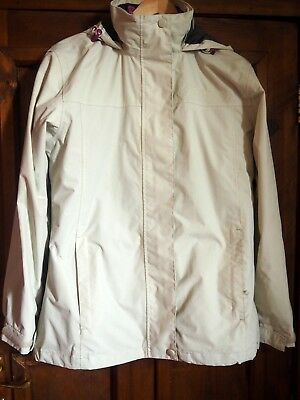 Higear Women's Walking Coat with Extra Jacket Size 10 Cream and Pink