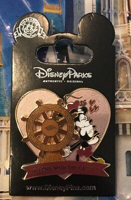 Disney Mickey And Minnie In Love With The Captain Pin NEW OE Heart Pin