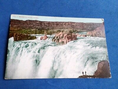 Antique Postcard 1908 Shoshone Falls Idaho Men Standing On Overlook