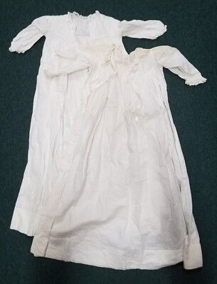 Set of 2 Early 19th Century Hand-made Vintage Christening Gowns