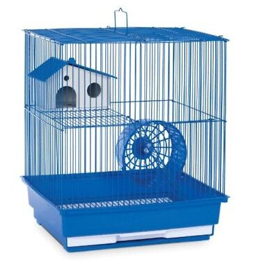 Hamster Cage 2 Level Gerbil Pig Rat Home Wire Small Animal Pet House Blue