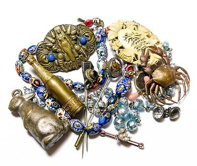 Collection Of Old Jewellery Bits Joblot Lot (B6)