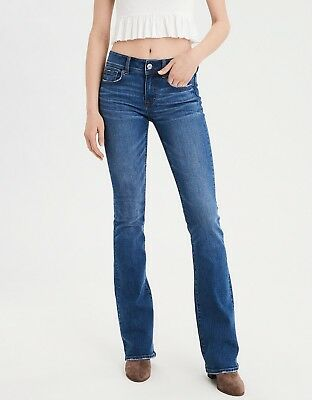 American Eagle Outfitters Skinny Kick Super Stretch Jeans Blue 4 Long