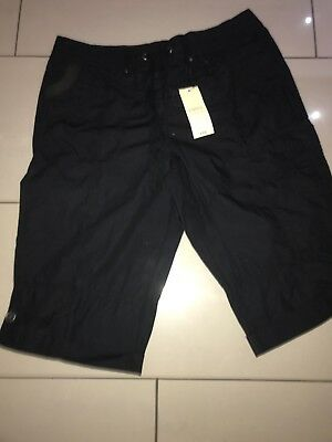 3/4 Combat Style Shorts Black With Elasticated Waist Size 12 Brand New With Tags
