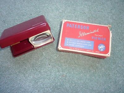 Vintage Illuminated Photographic Slide Viewer made by Paterson